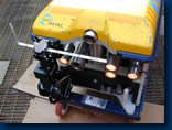 ROV with measuring frame