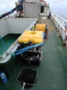 ROV lashed  down for transit