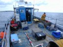 small boat ROV operation