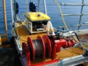 small ROV on LARS deck